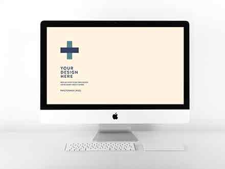 iMac Website Mockup