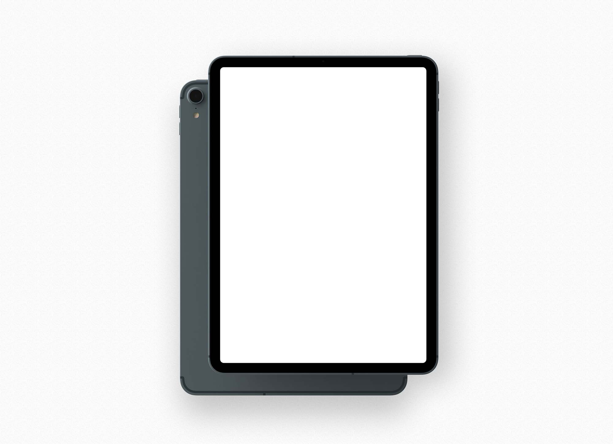 iPad Pro Font and Back Mockup 2
