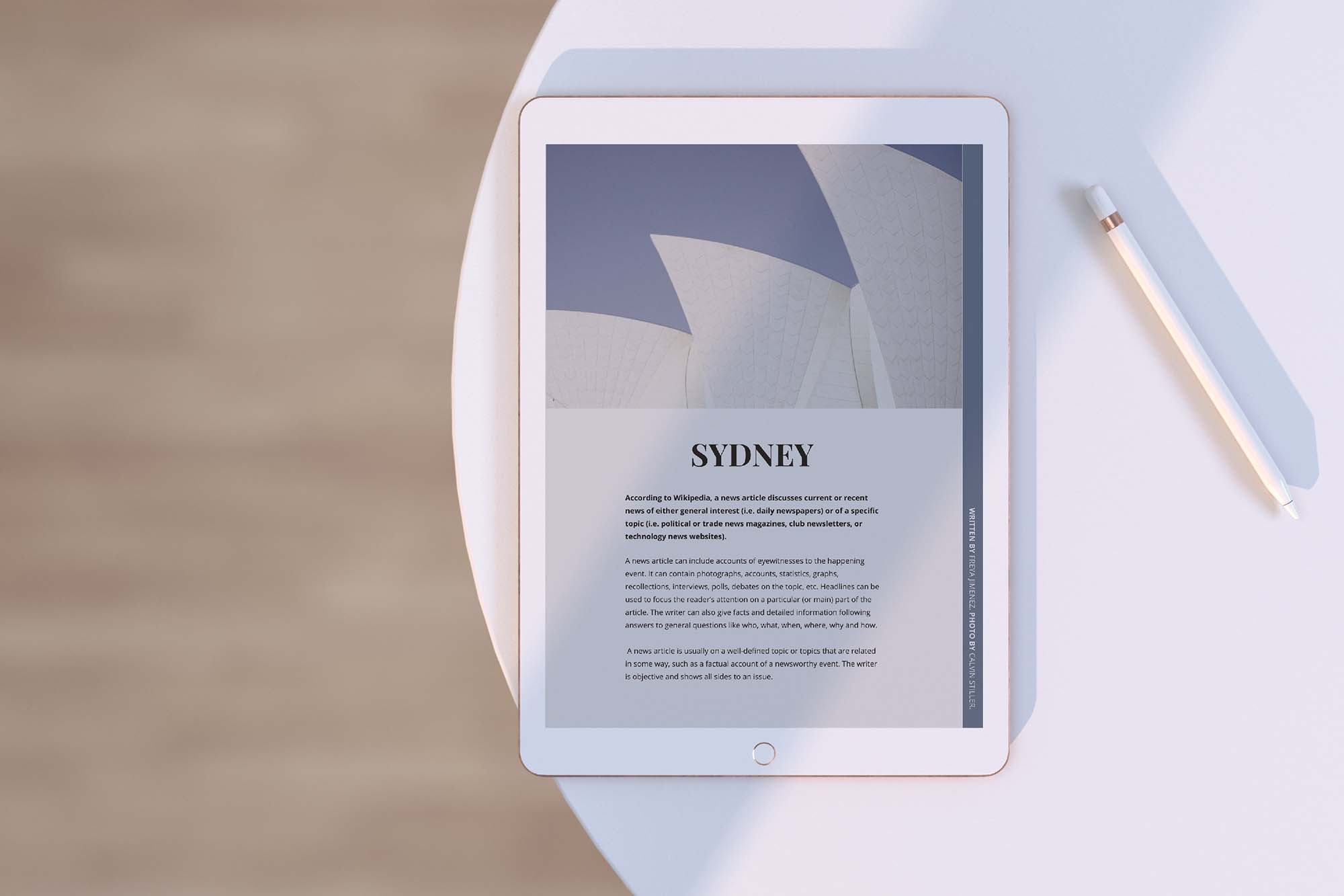 iPad Tablet Mockup