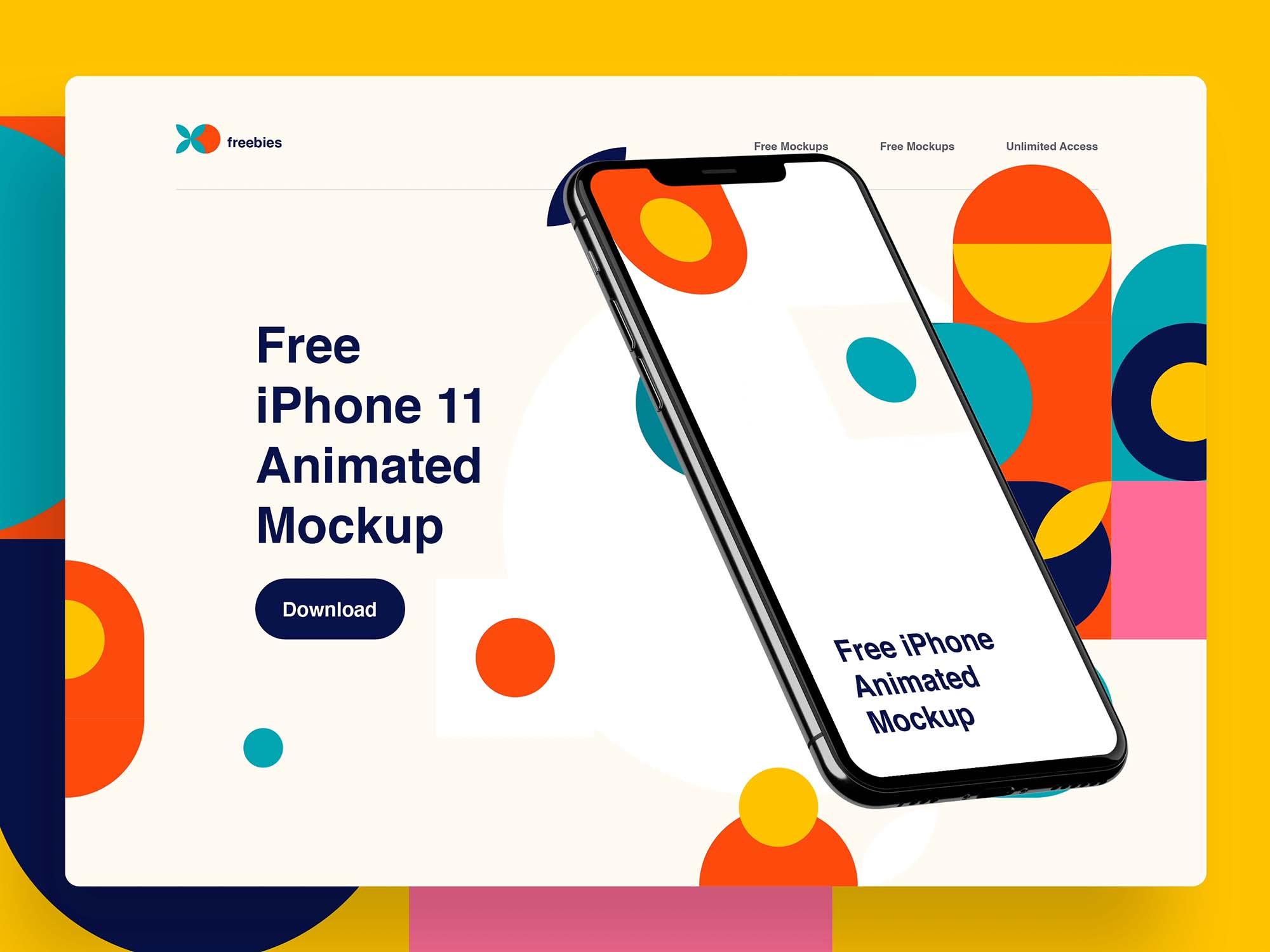 iPhone 11 Pro Animation Mockup 2
