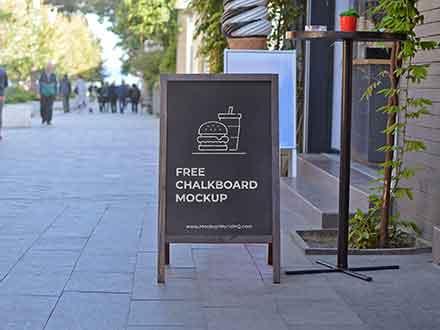 A-Frame Sign Chalkboard Mockup