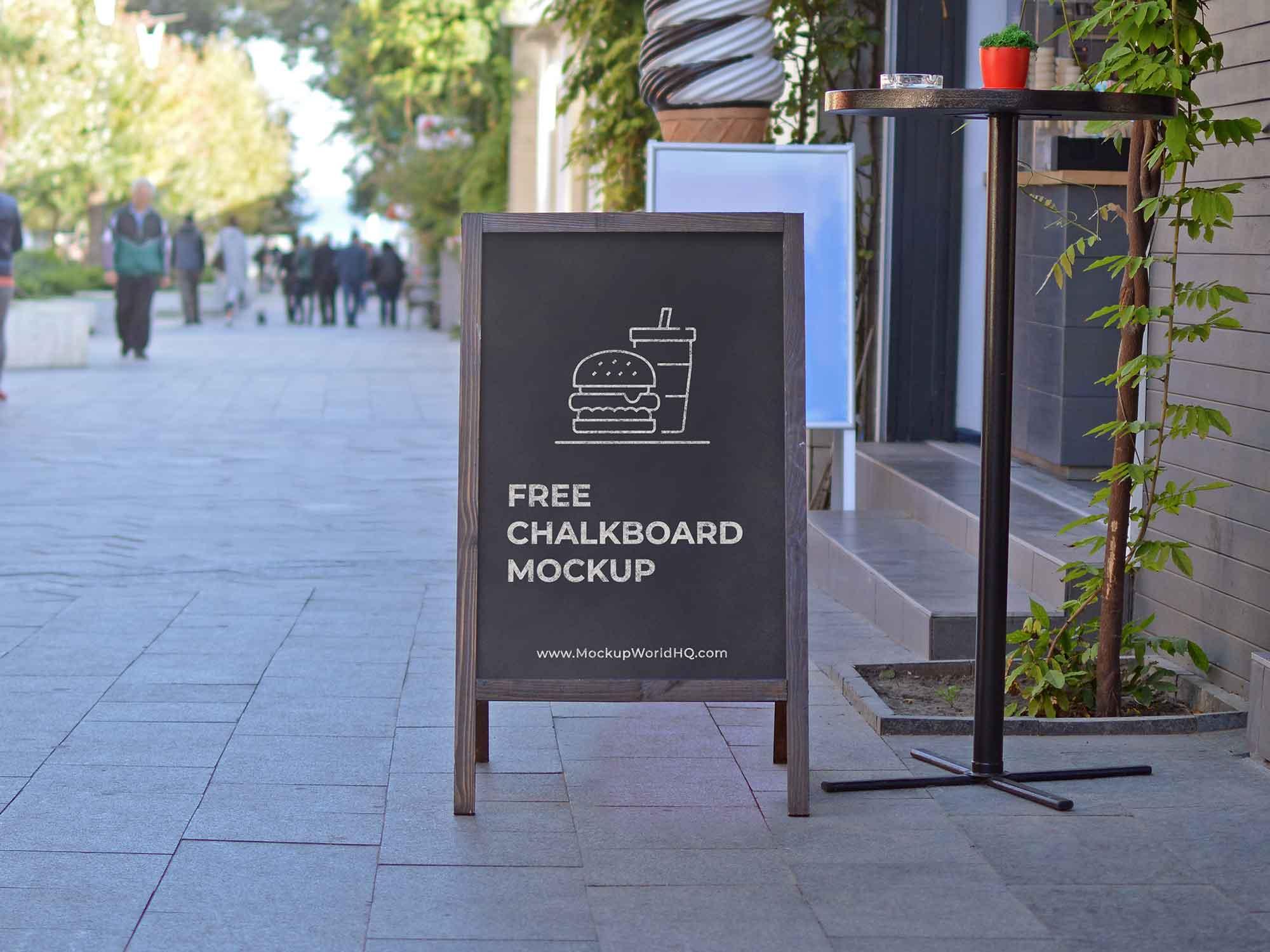 A-Frame Sign Chalkboard Mockup 2