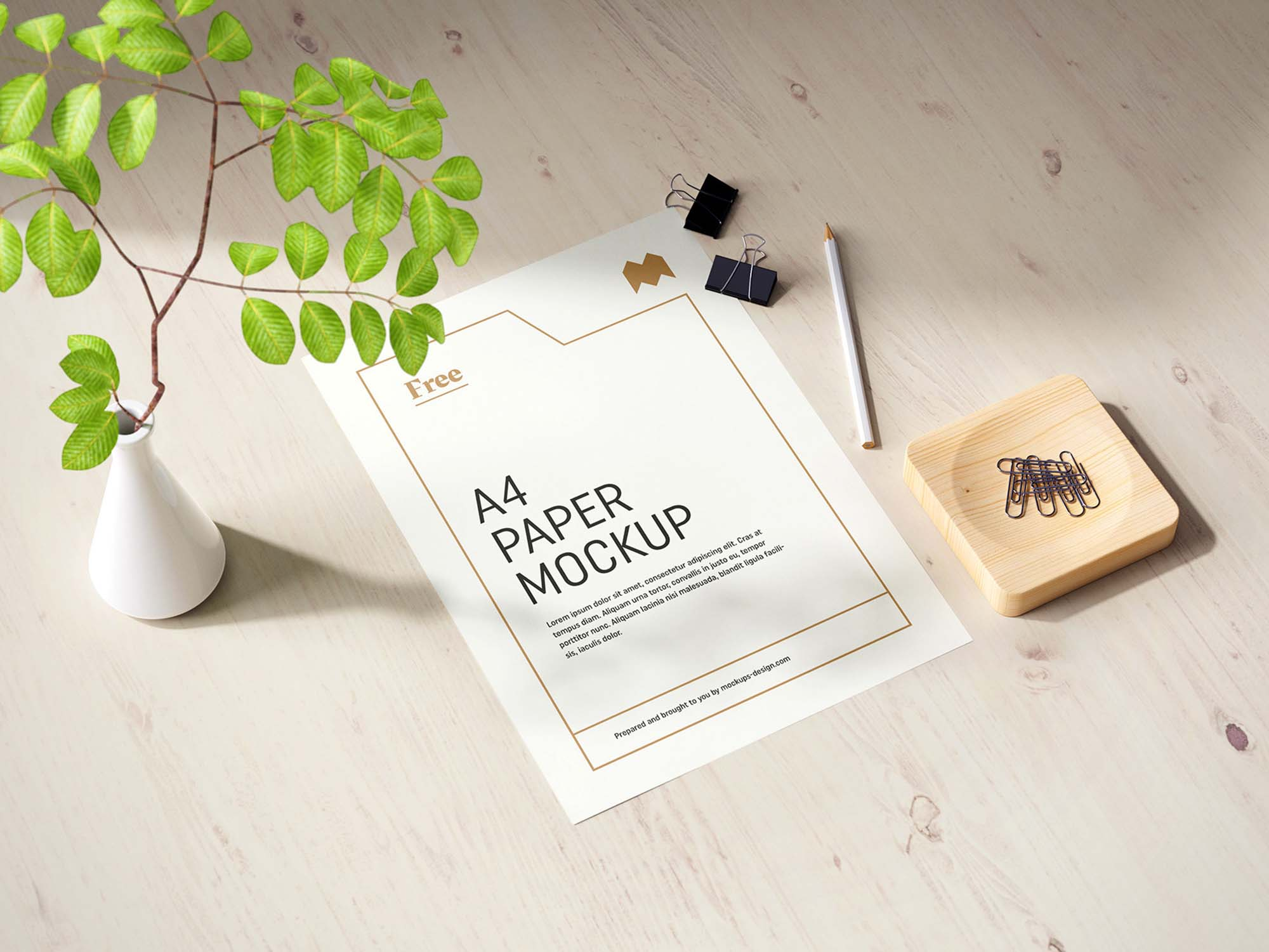 A4 Paper Mockup 1