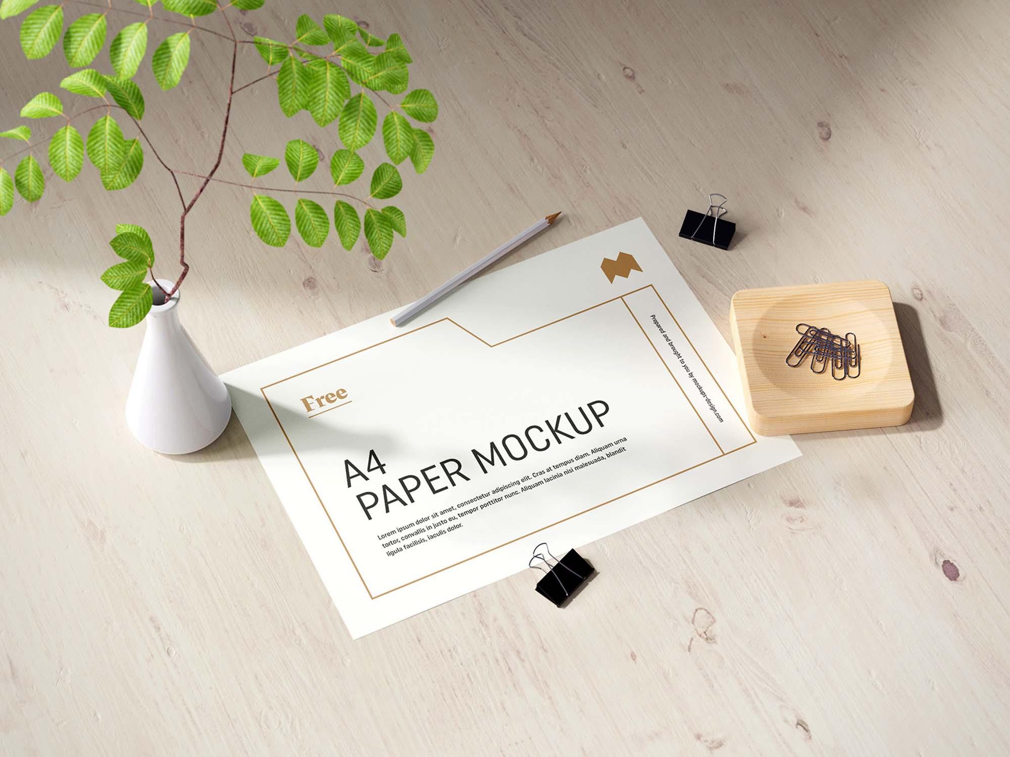 A4 Paper Mockup 2