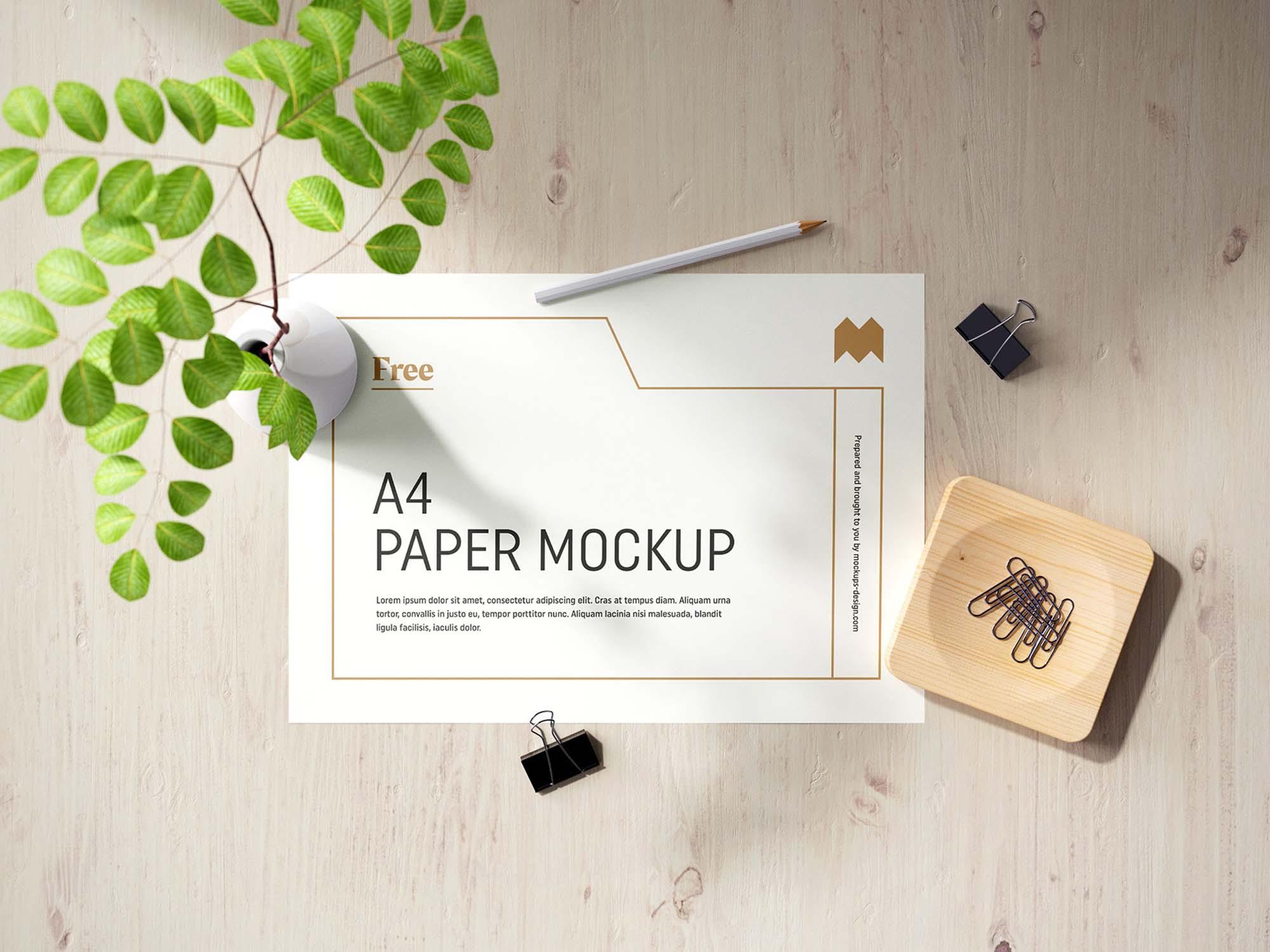 A4 Paper Mockup 3