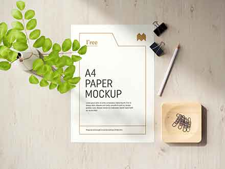 A4 Paper Mockup 4
