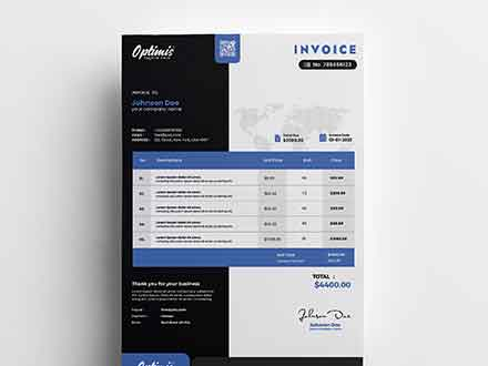 A4 Professional Invoice Template
