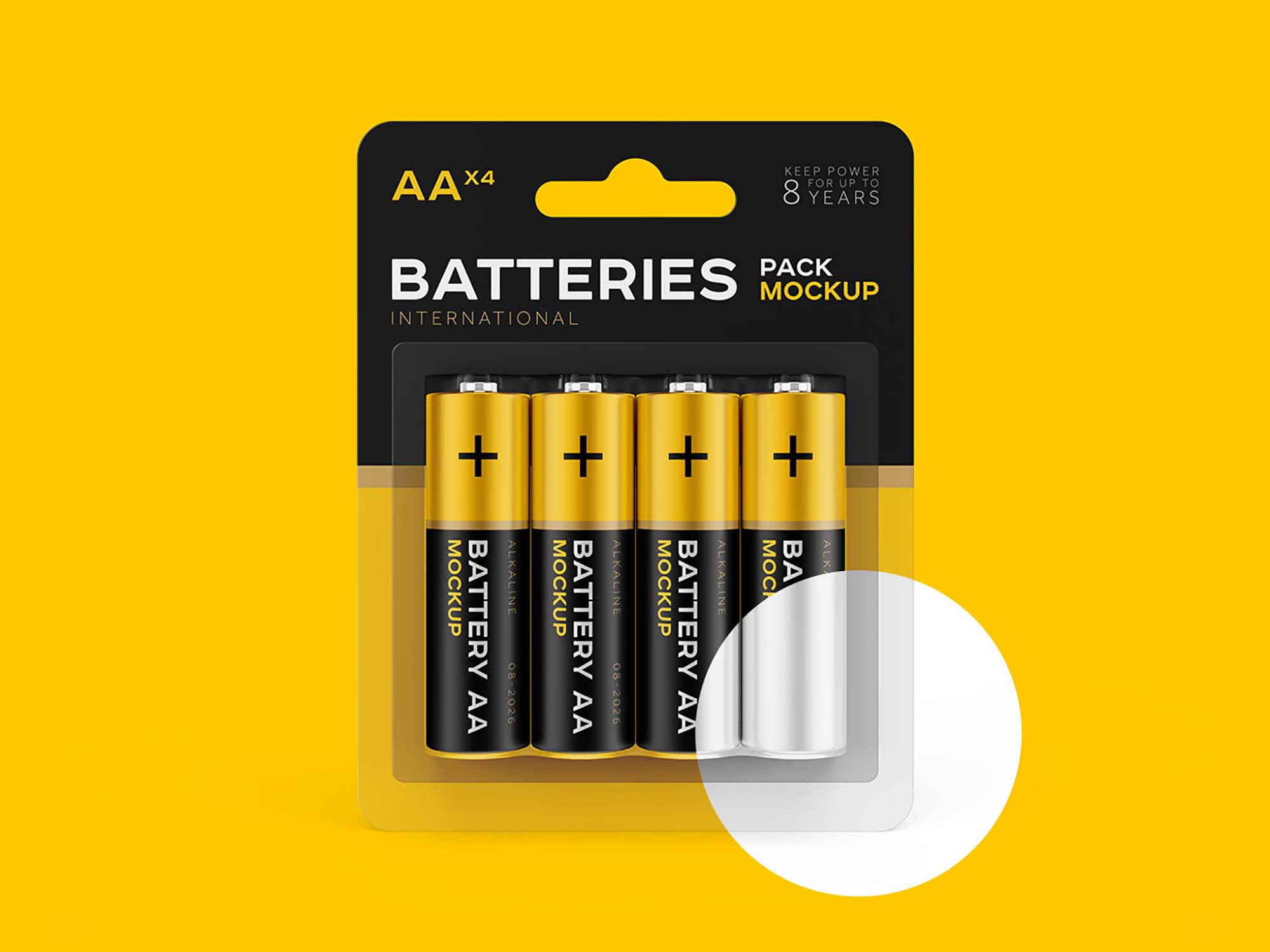 AA Battery Mockup