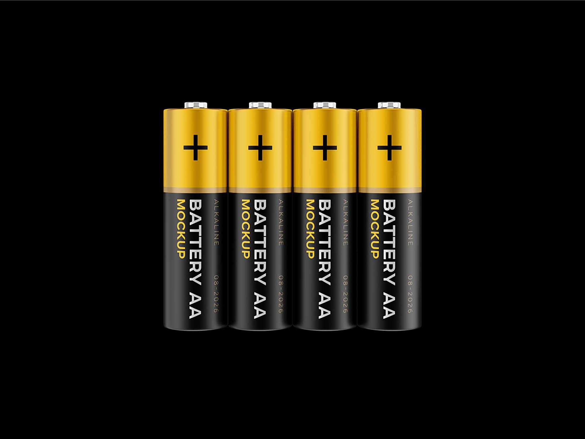 AA Battery Mockup 2