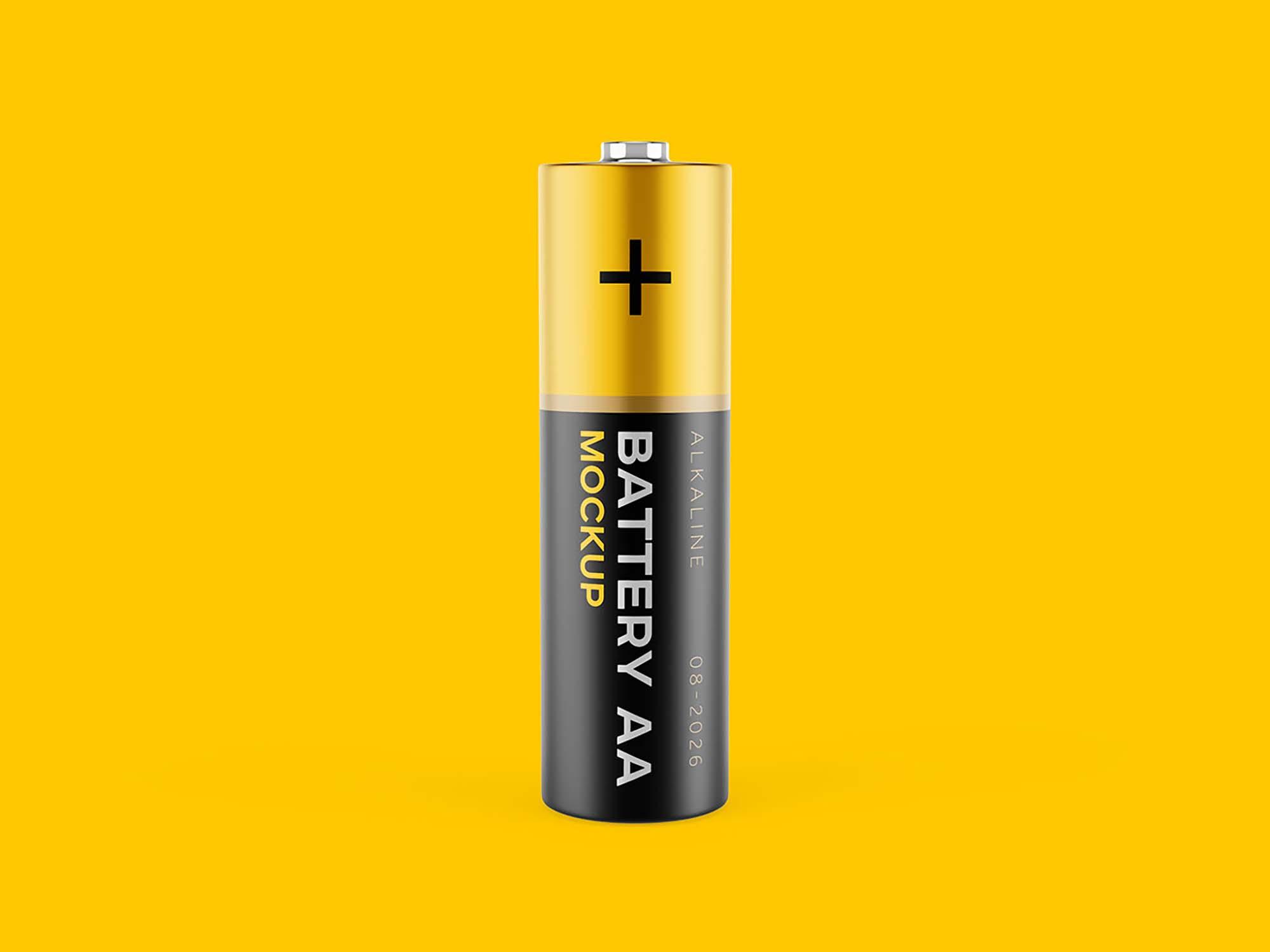 AA Battery Mockup 3