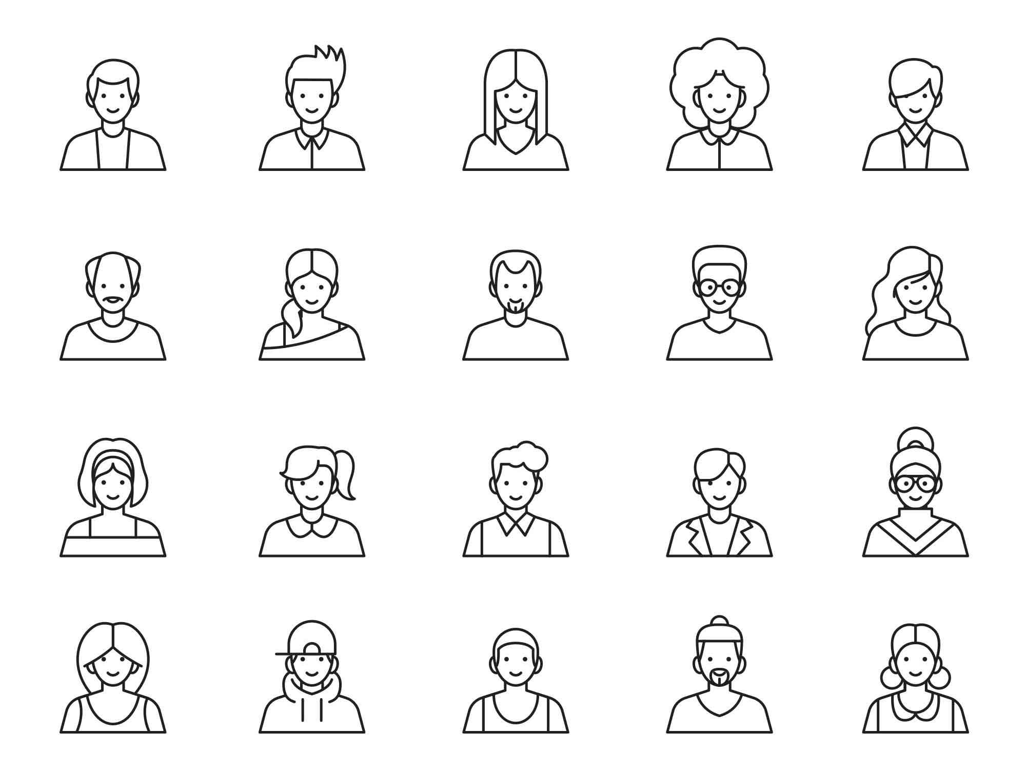 Avatar Vector Icons