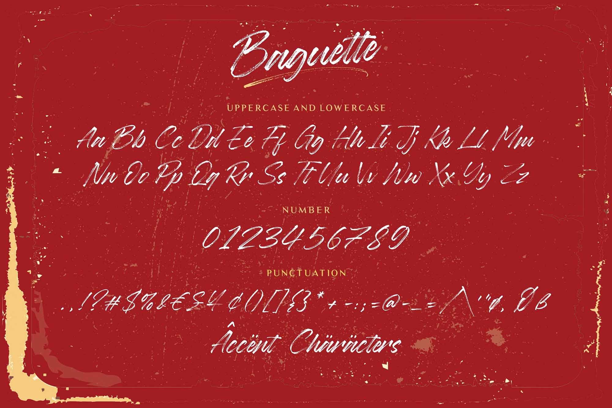 Baguette Brush Font 5