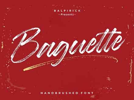 Baguette Brush Font