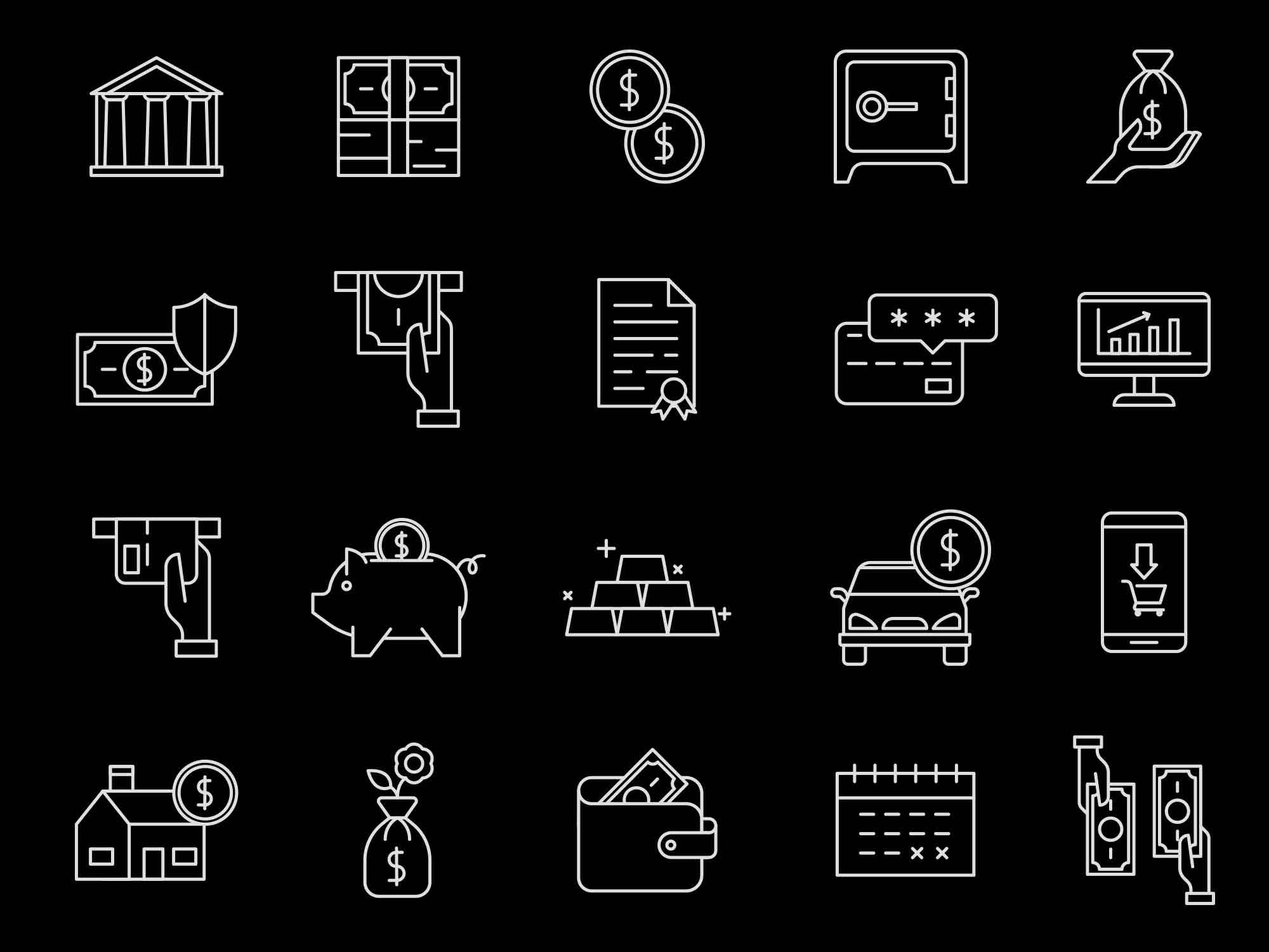 Banking Vector Icons 2