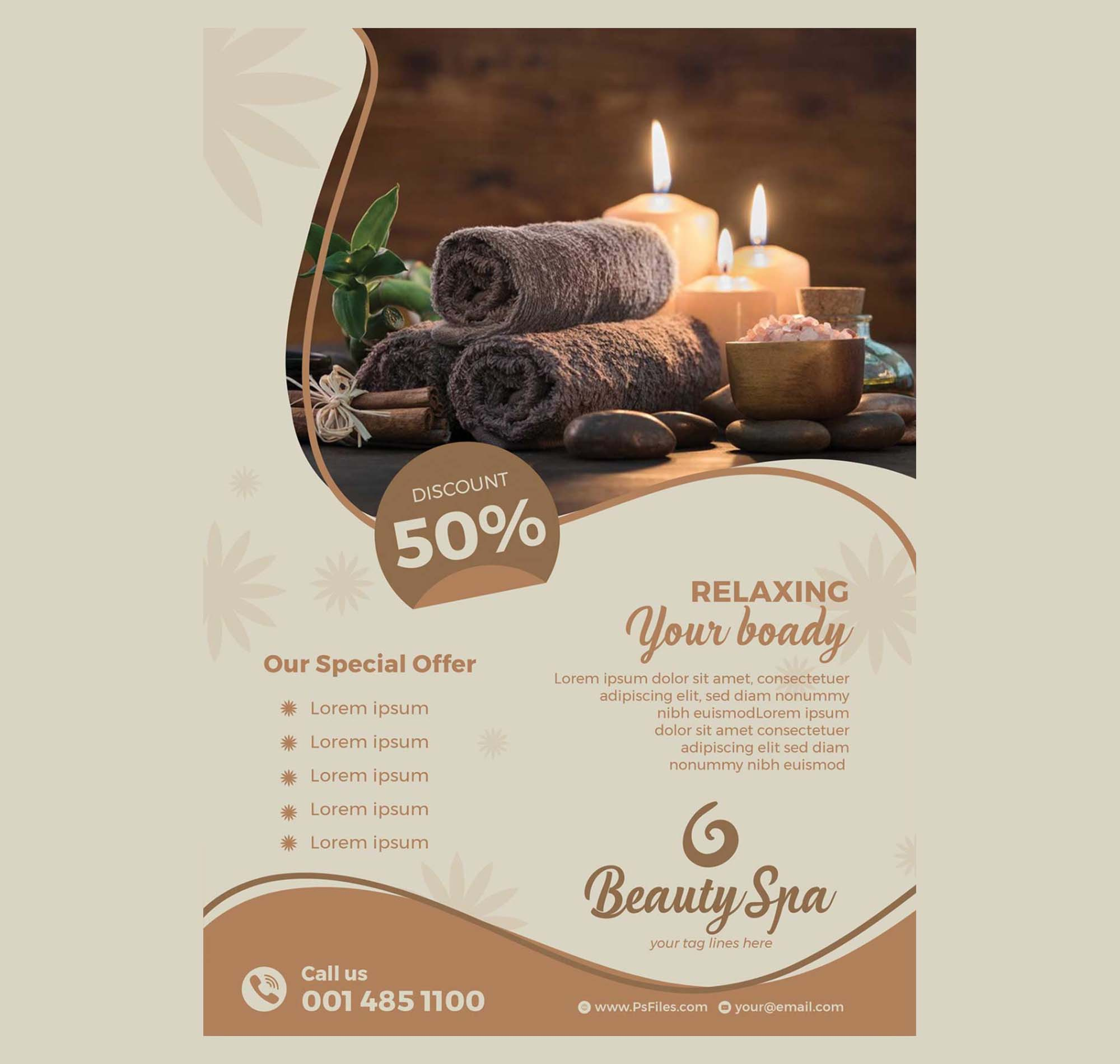 Beauty Spa Flyer Template 2
