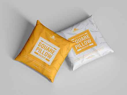 Branding Square Pillow Mockup