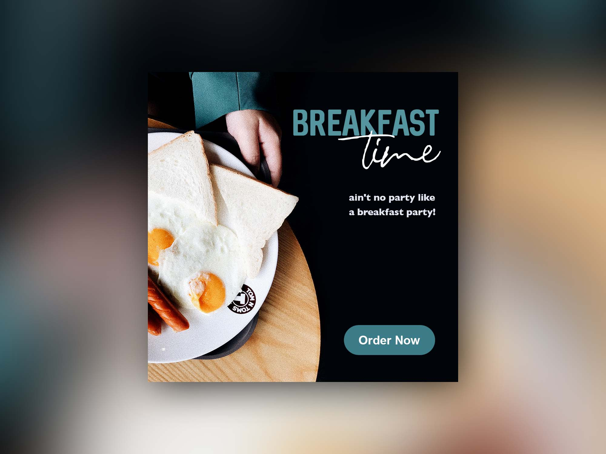 Breakfast Time Banner Template