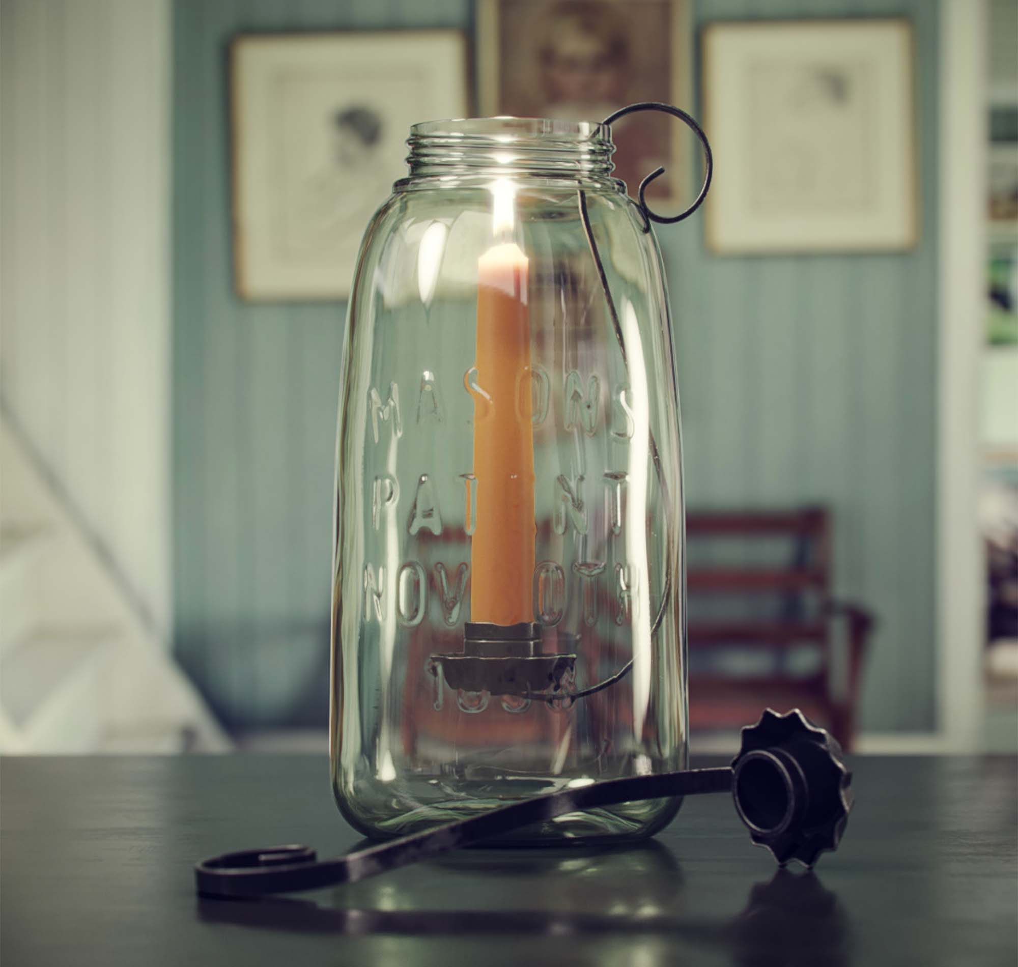 Candle in Bank 3D Model