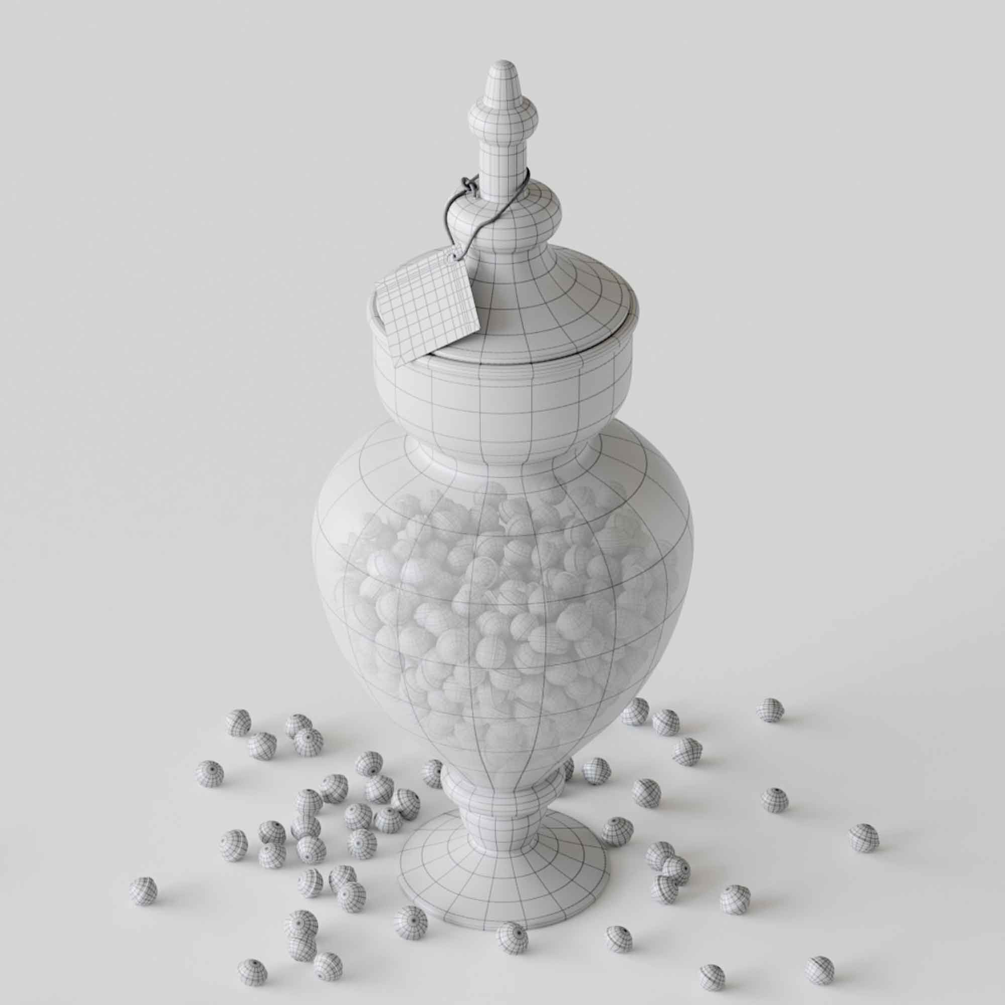 Candy in Jar 3D Model 2