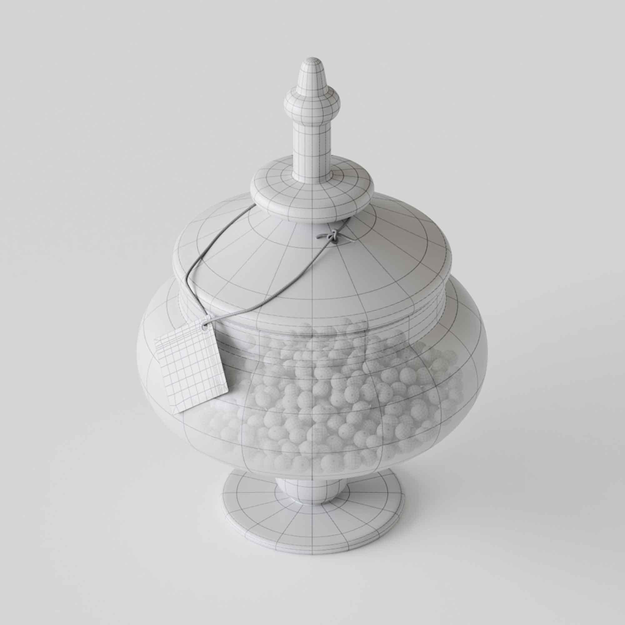 Candy in Jar 3D Model 3