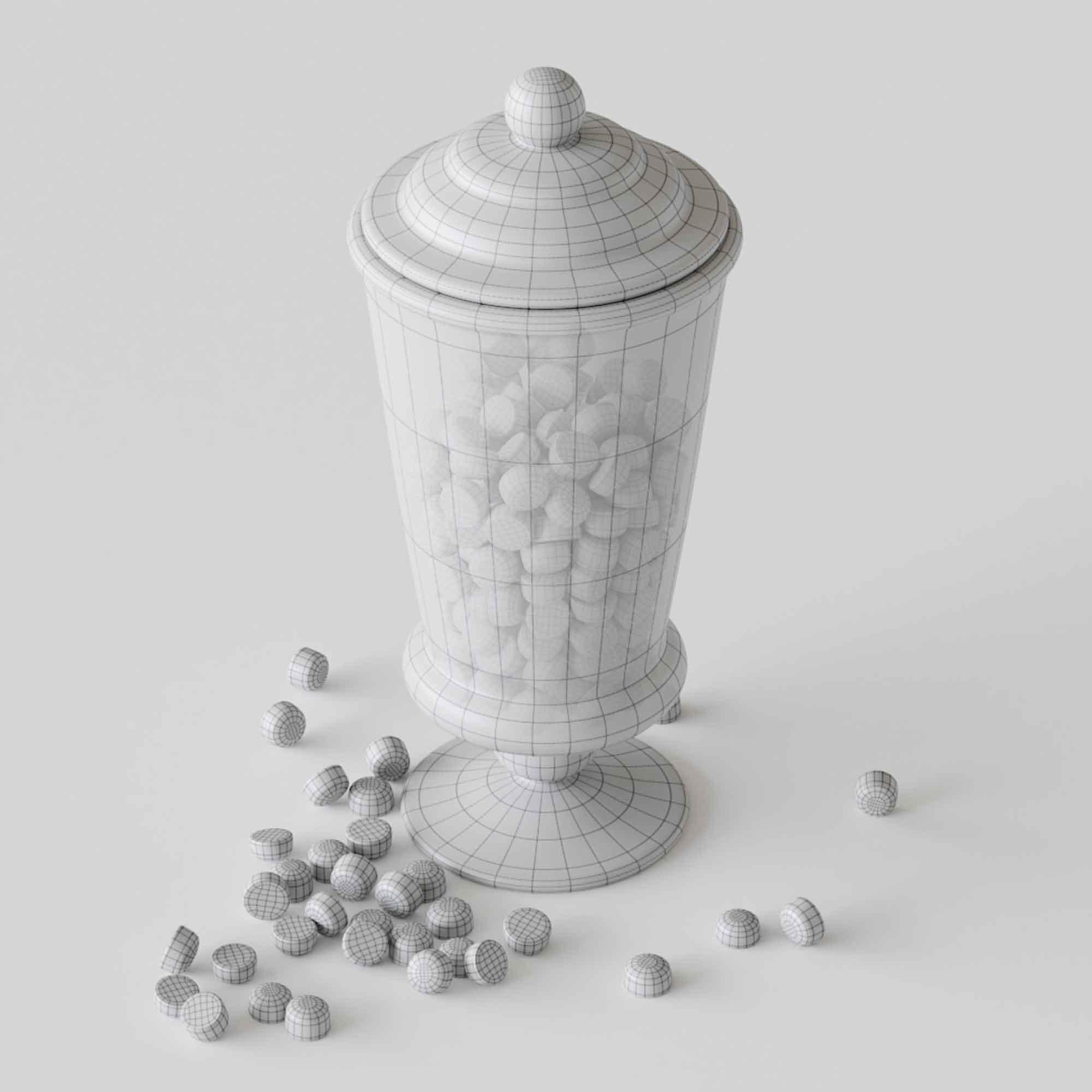 Candy in Jar 3D Model 5