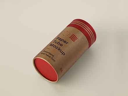 Cardboard Tube Mockup
