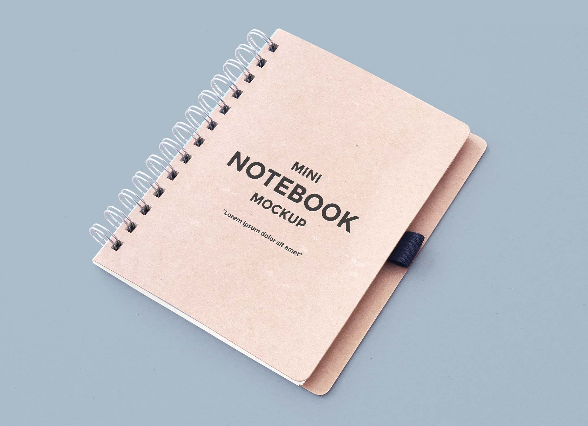 Clean Notebook Mockup
