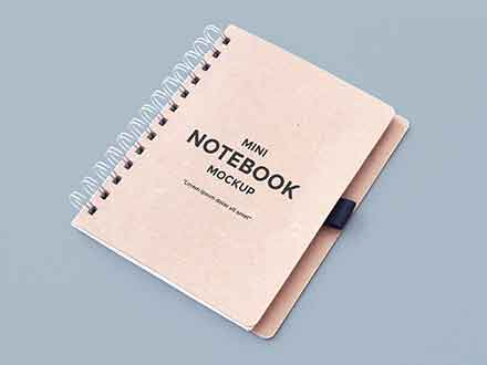 Clean Notebook Mockup