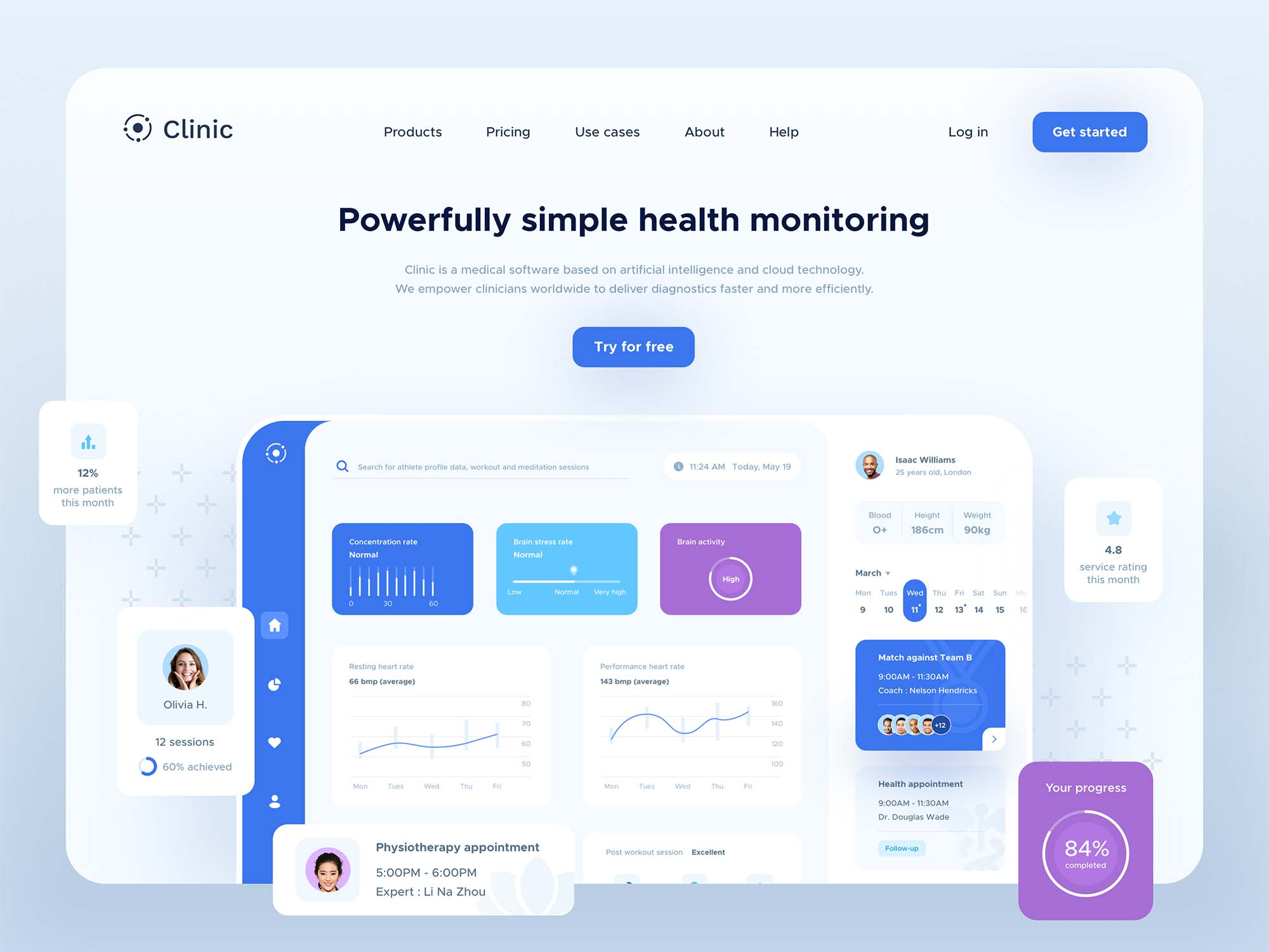 Clinic Dashboard UI Template
