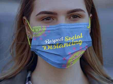 Coronavirus Face Mask Mockup