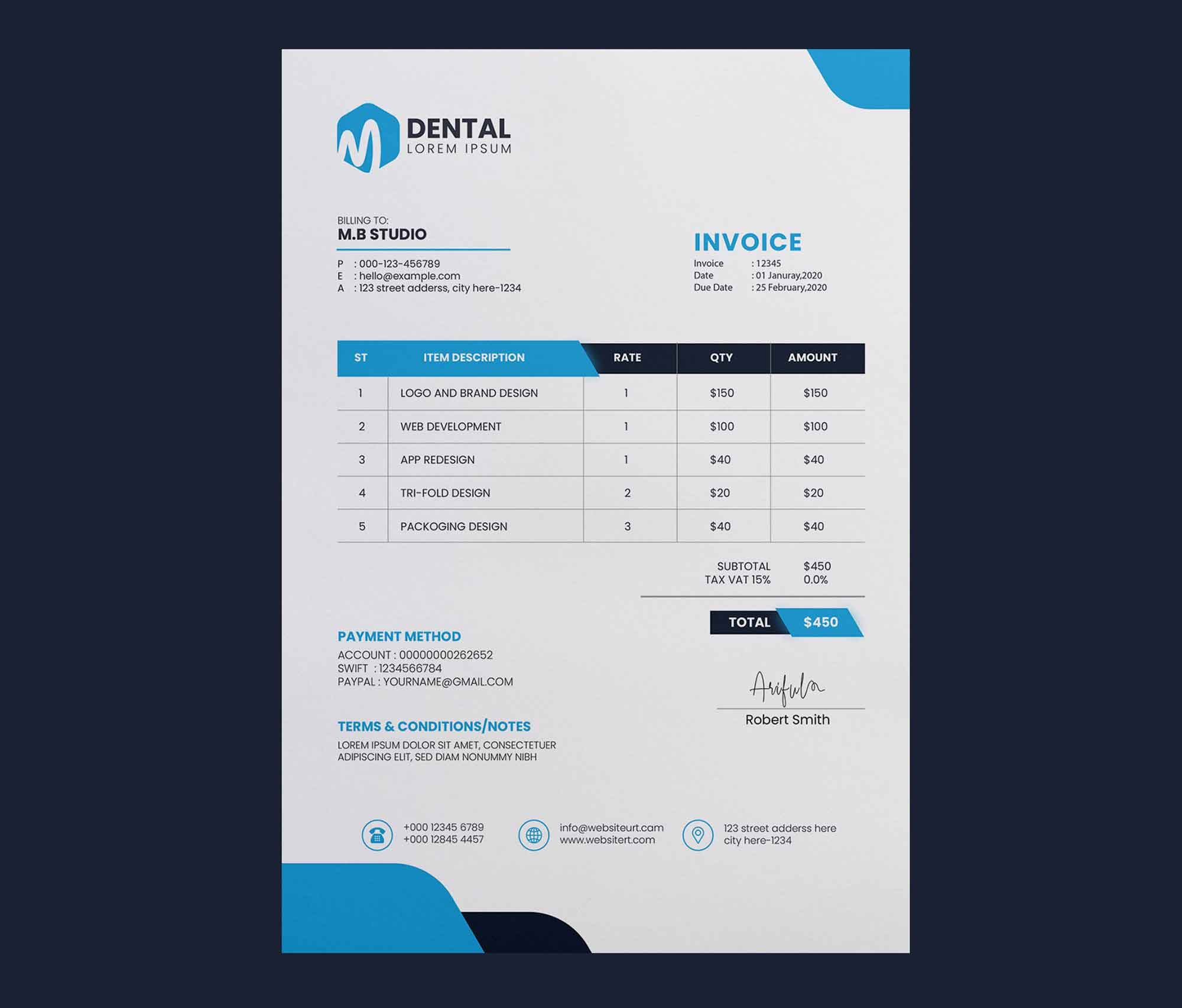 Corporate Invoice Template 2