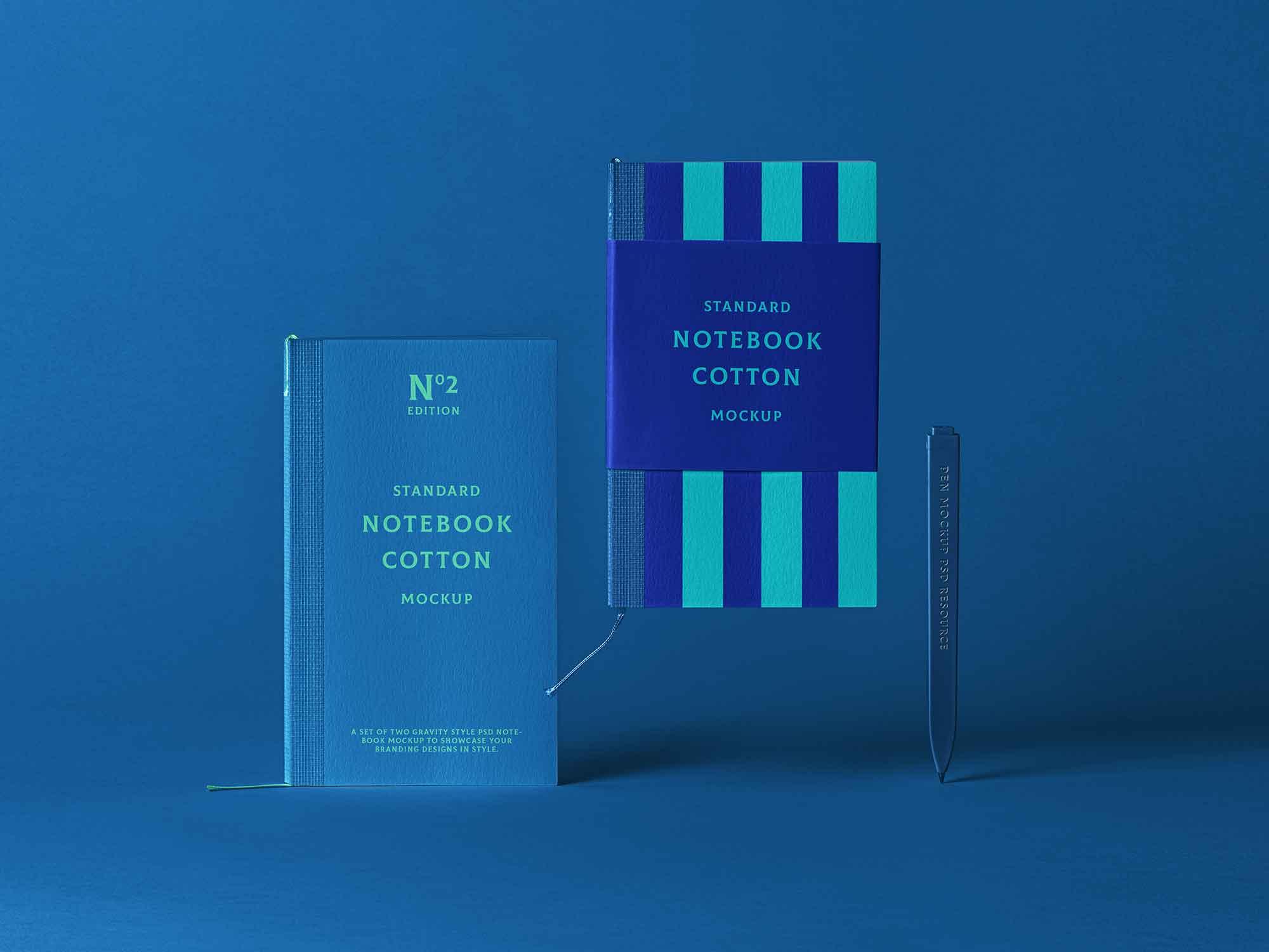 Cotton Notebook Mockup 2