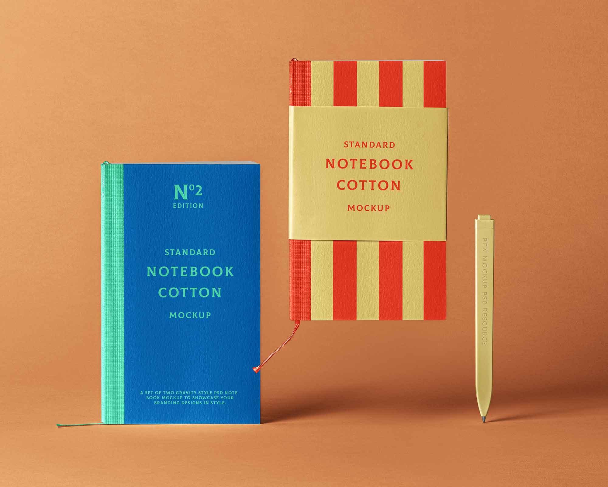 Cotton Notebook Mockup