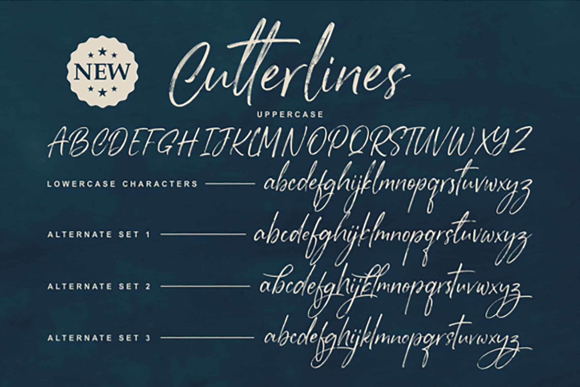 Cutterlines Brush Font 4