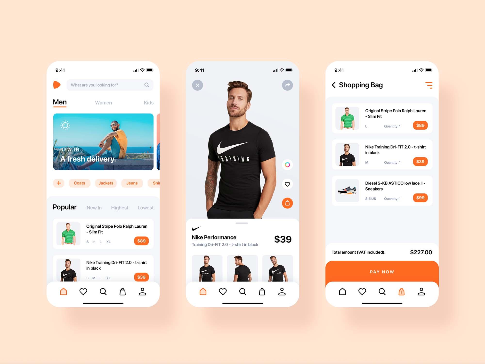 E-commerce App Redesign Template
