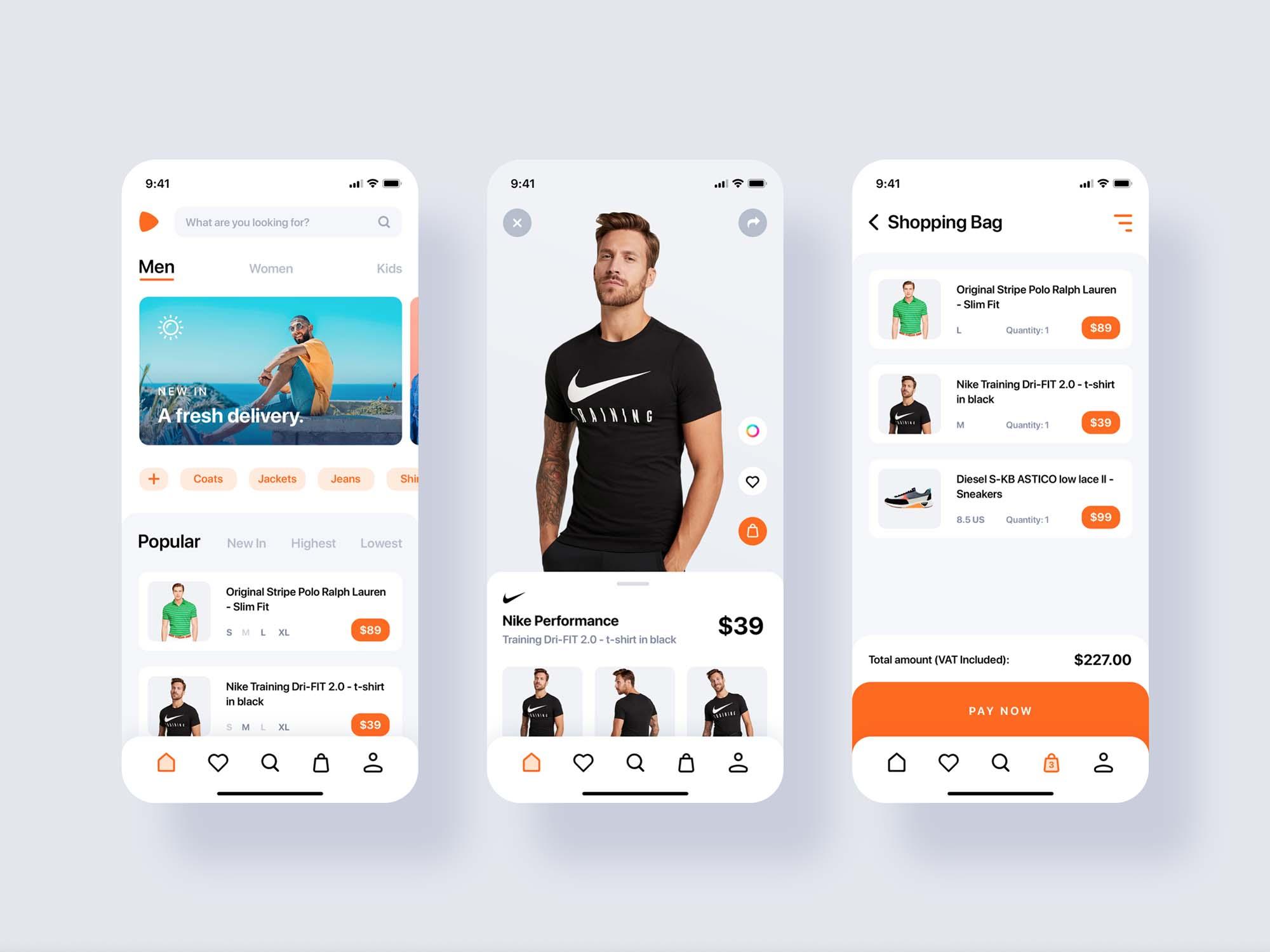 E-commerce App Redesign Template 2