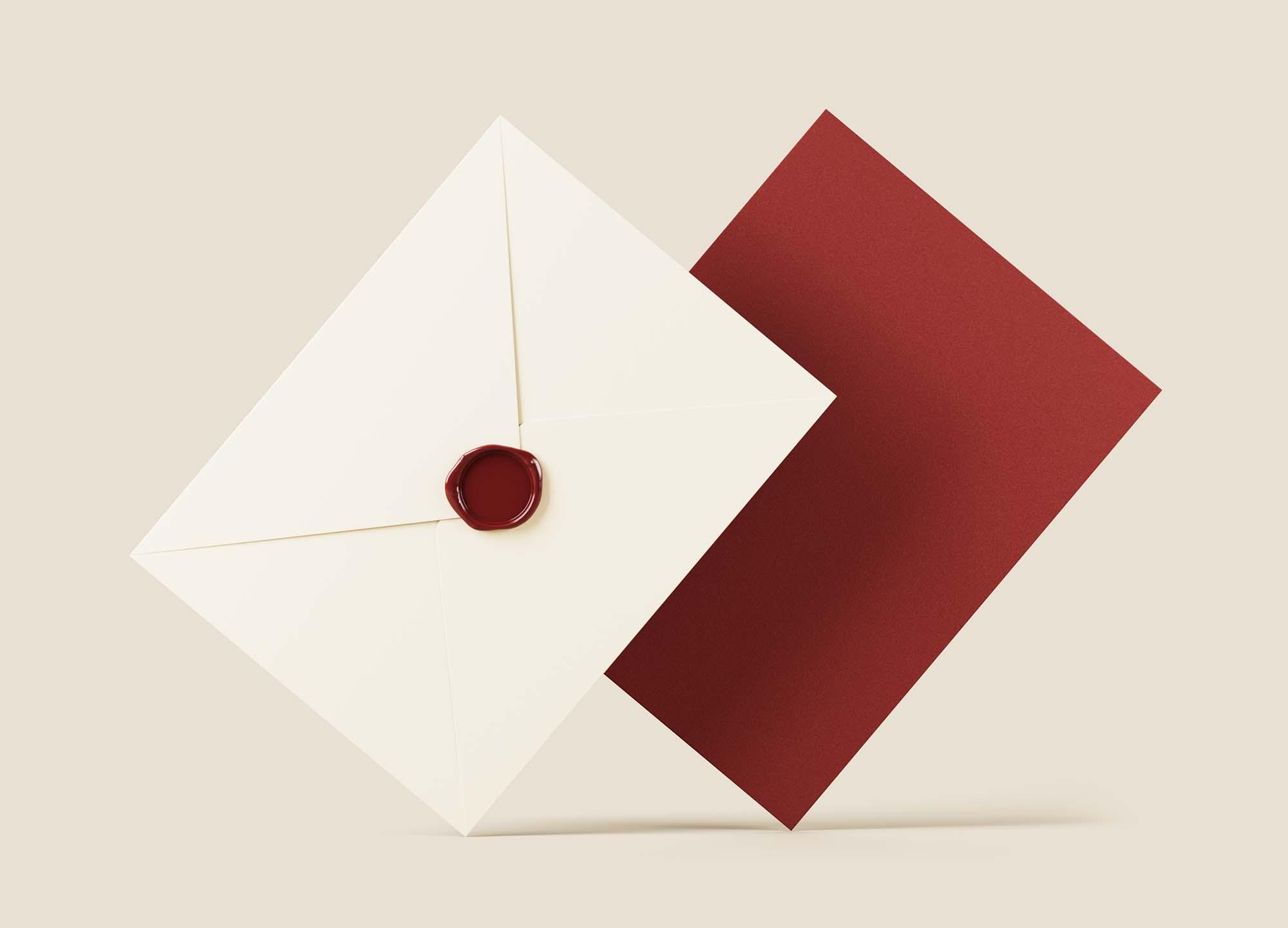 Elegant Envelope Mockup 2