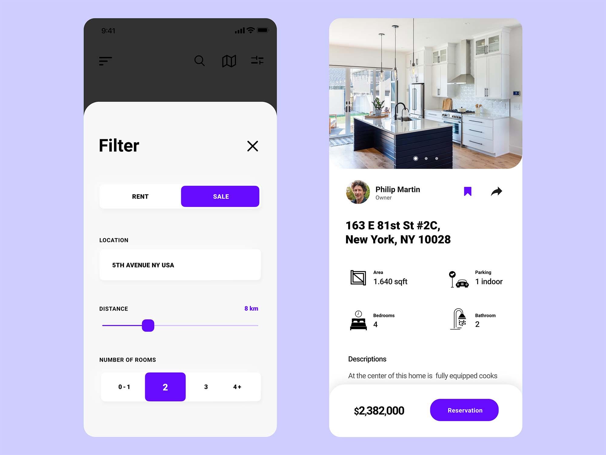 Experimental Real Estate App Template 3