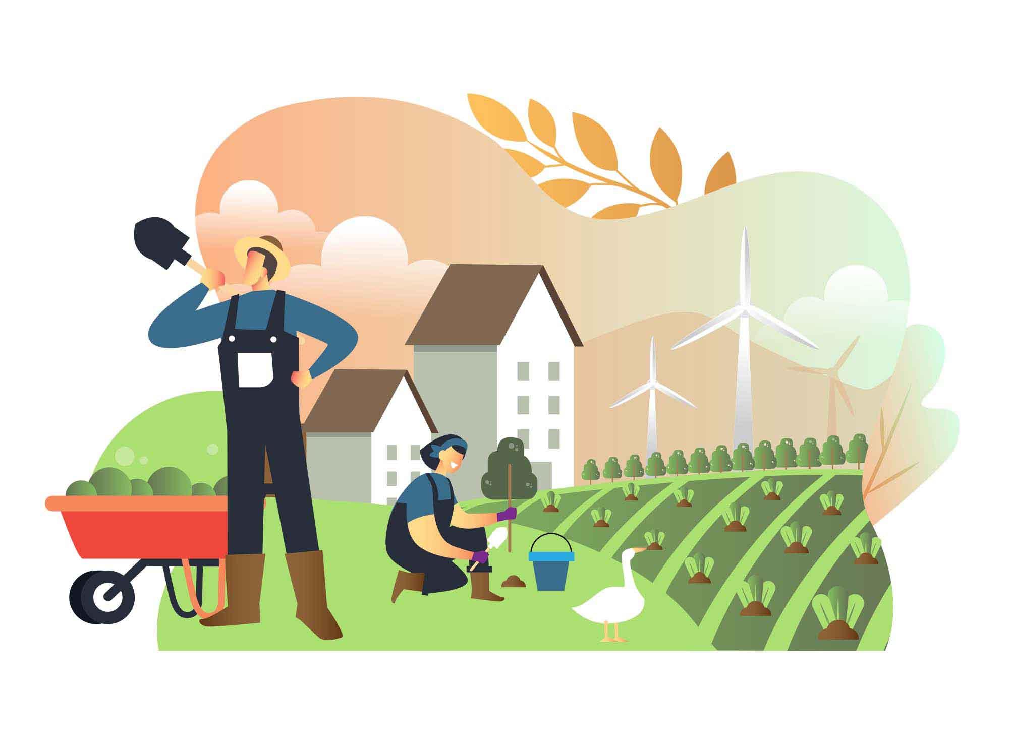Farming Vector Illustration