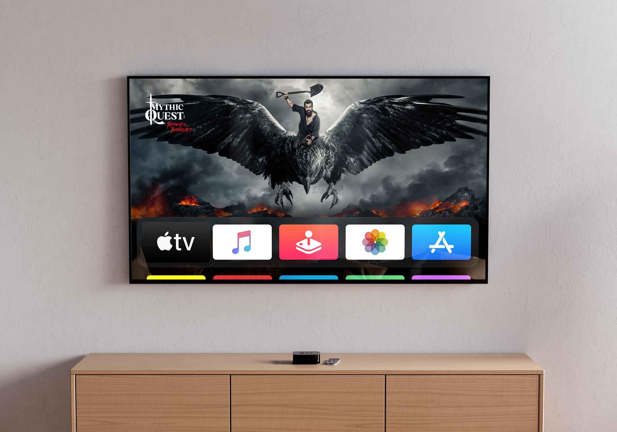 Flat TV Mockup 2
