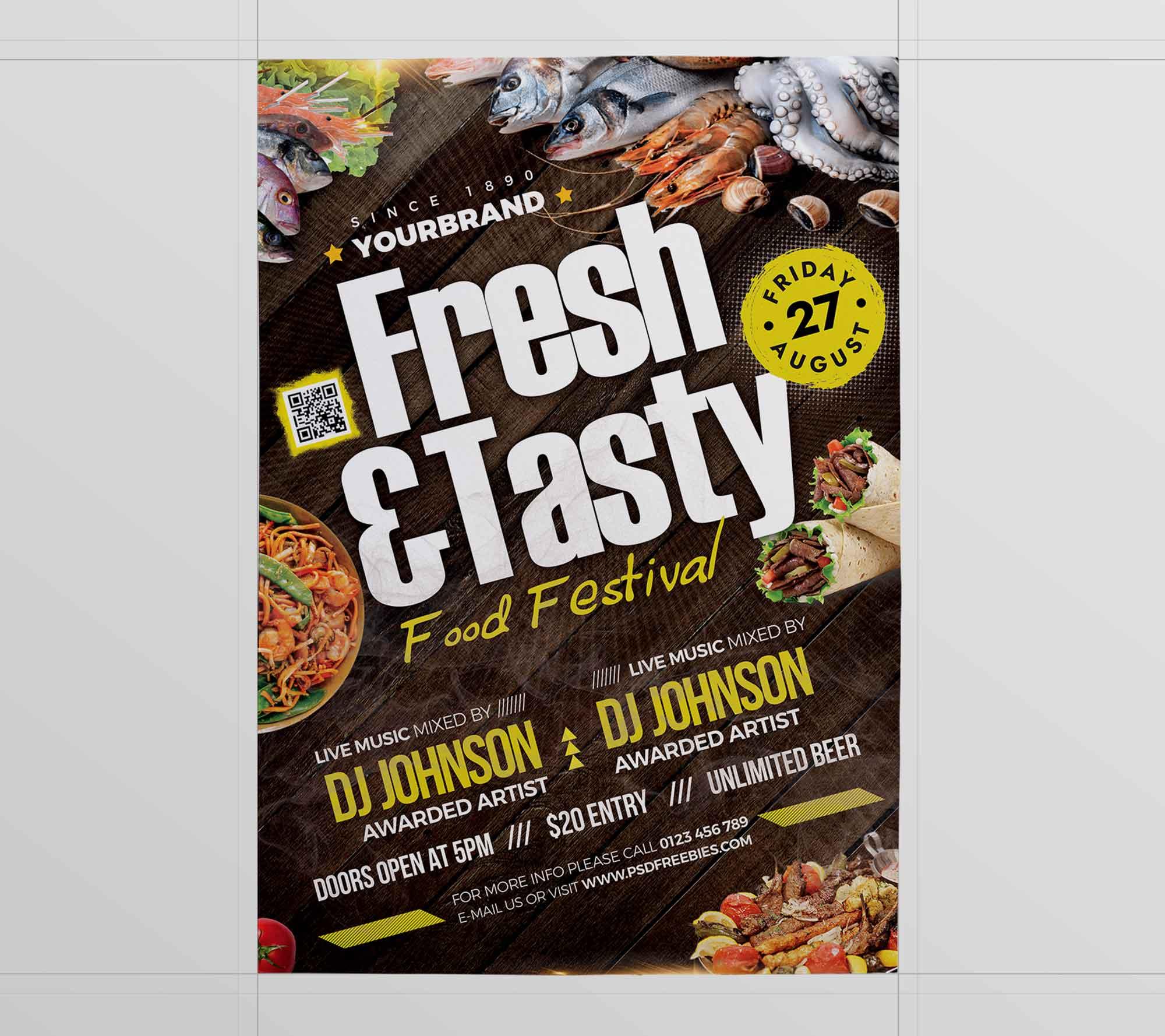 Food Festival Flyer Template 2