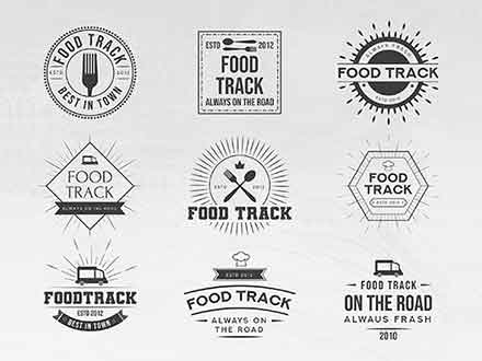 Food Track Logo Templates