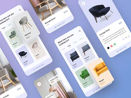 Furniture App UI Template