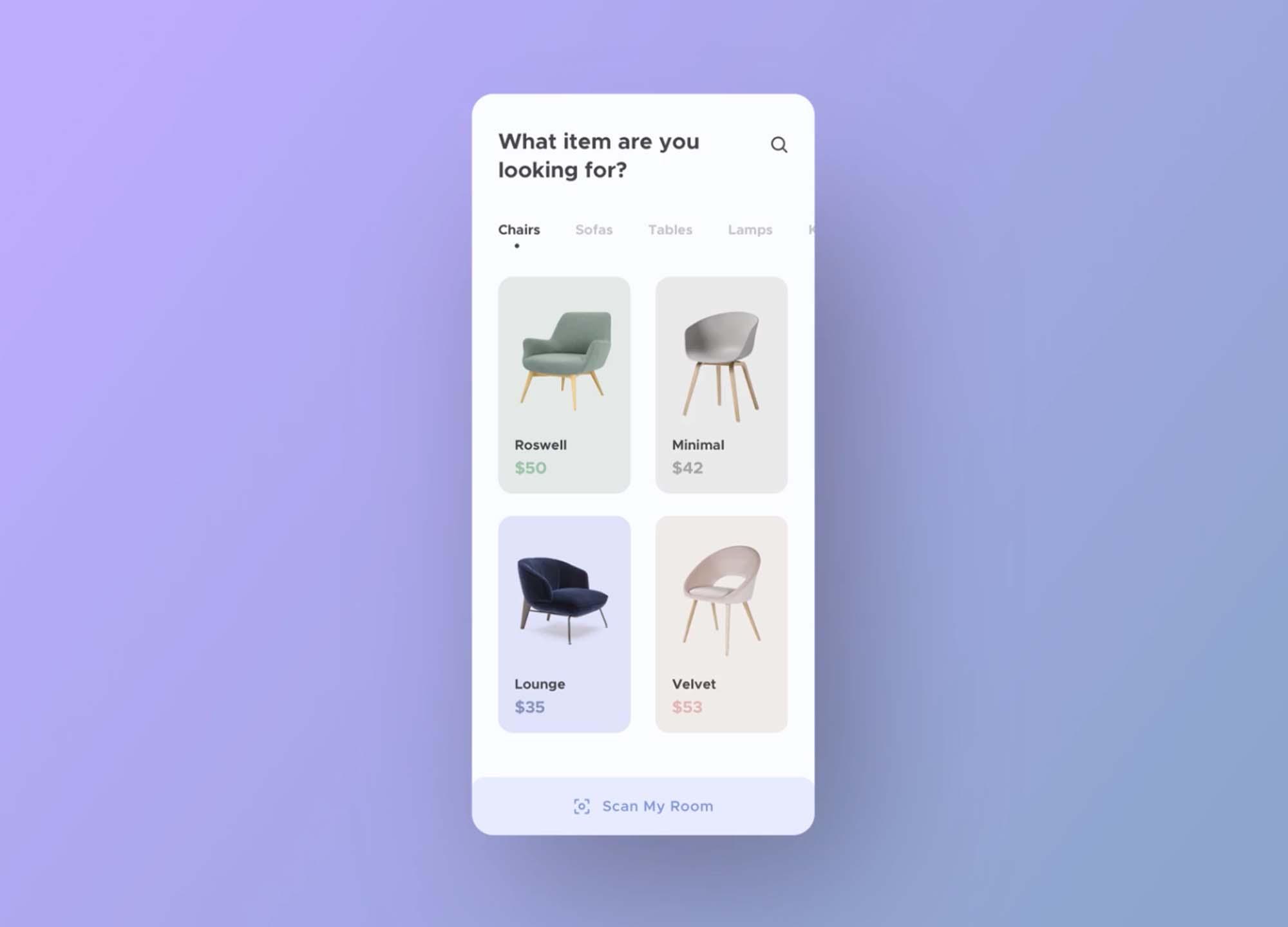 Furniture App UI Template 2