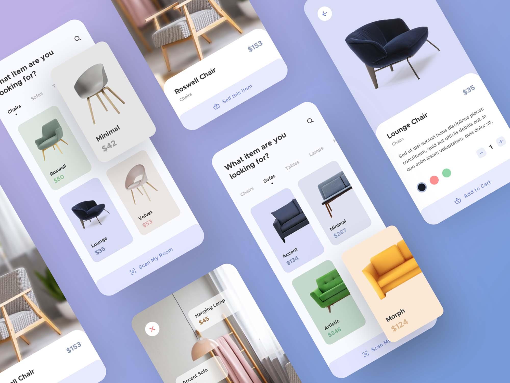 Furniture App UI Template