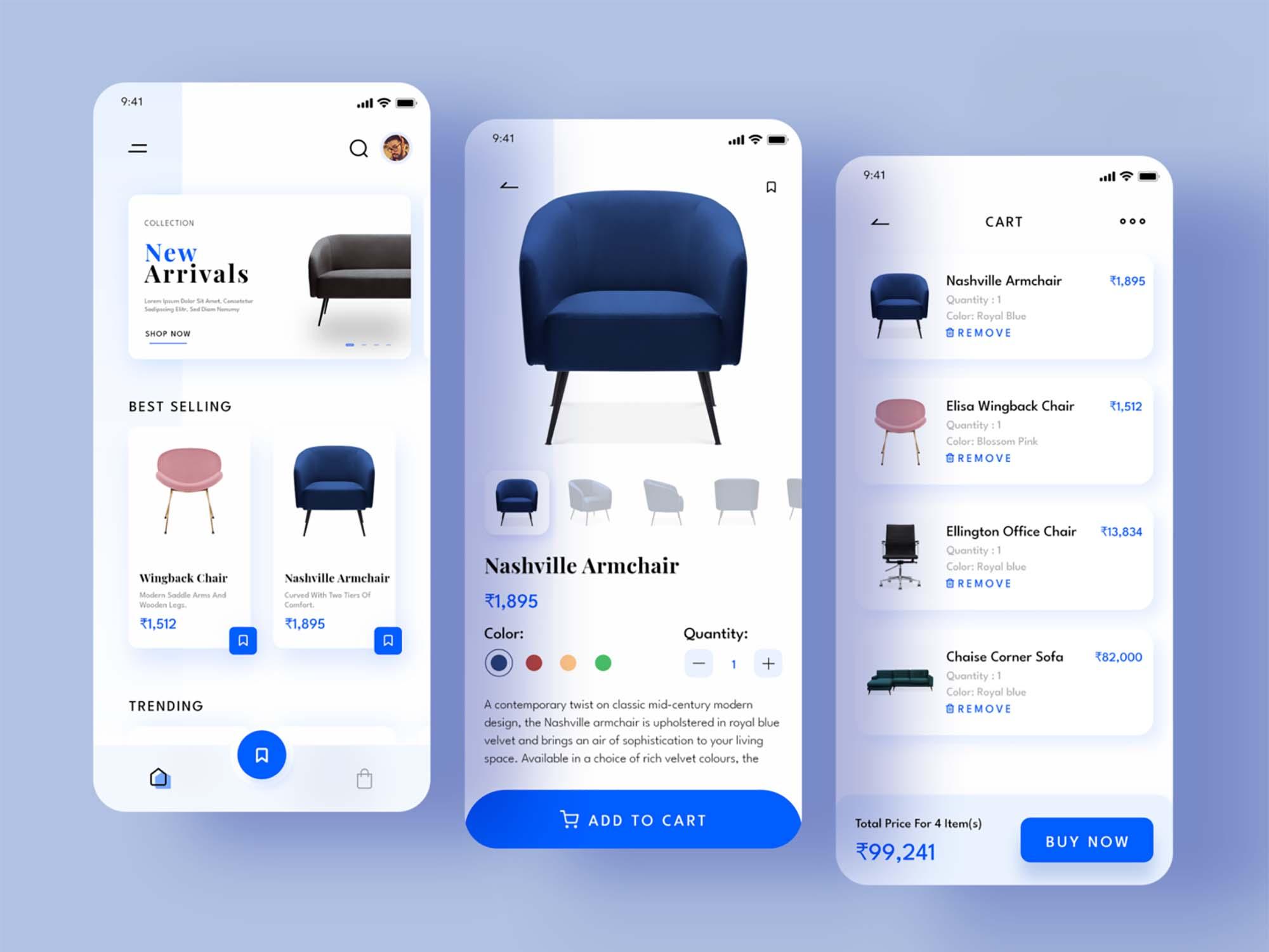 Furniture E-commerce App Template