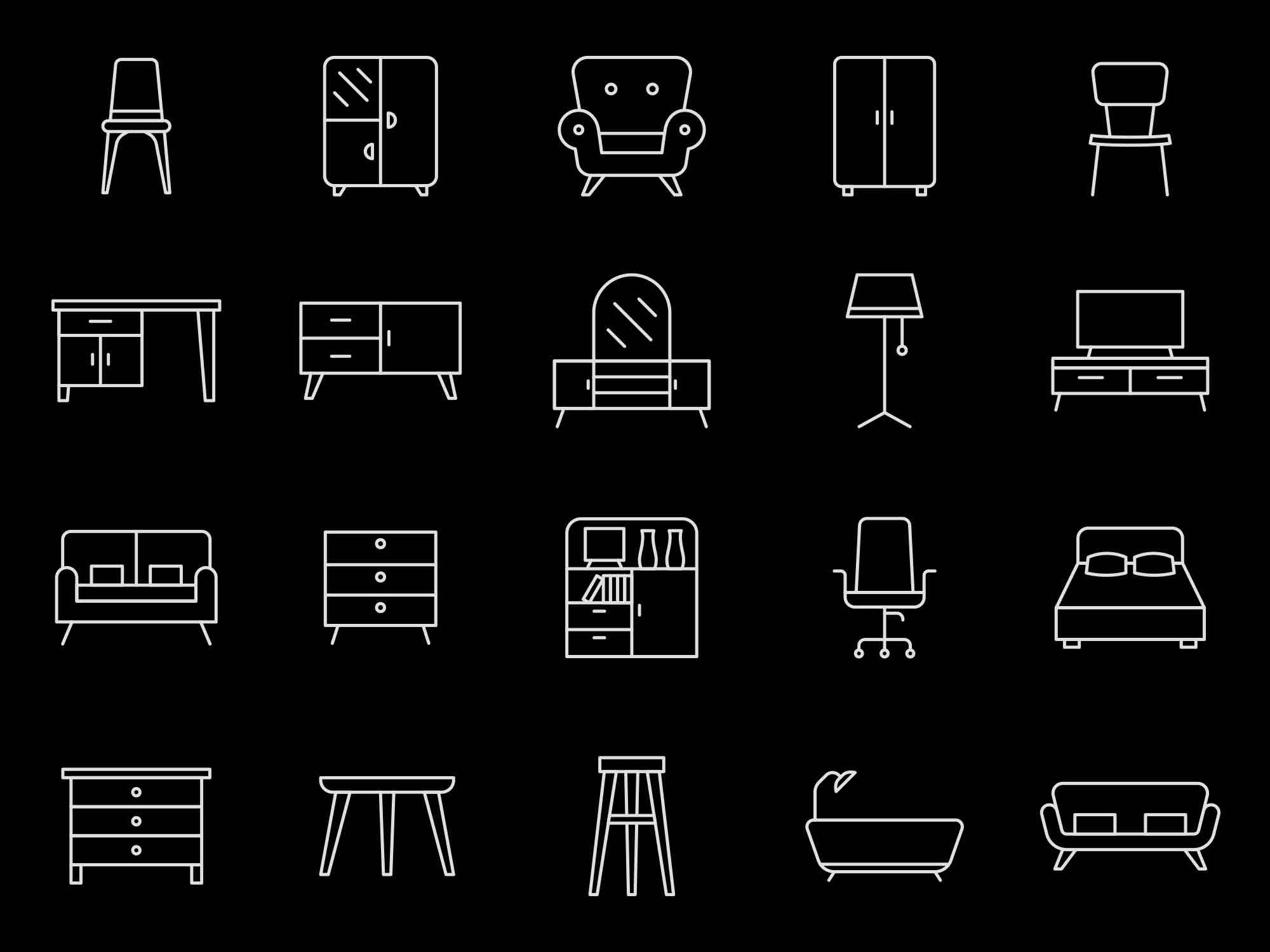 Furniture Icons 2