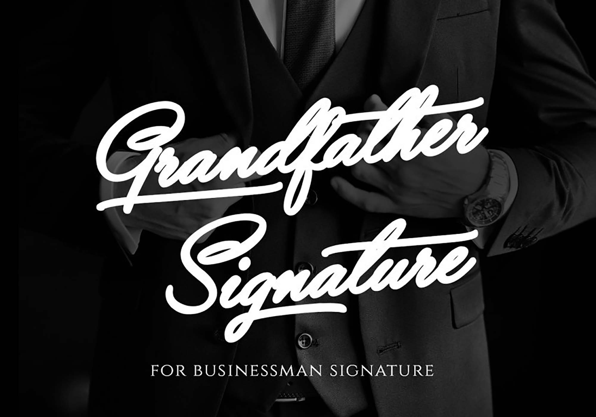 Grandfather Signature Font