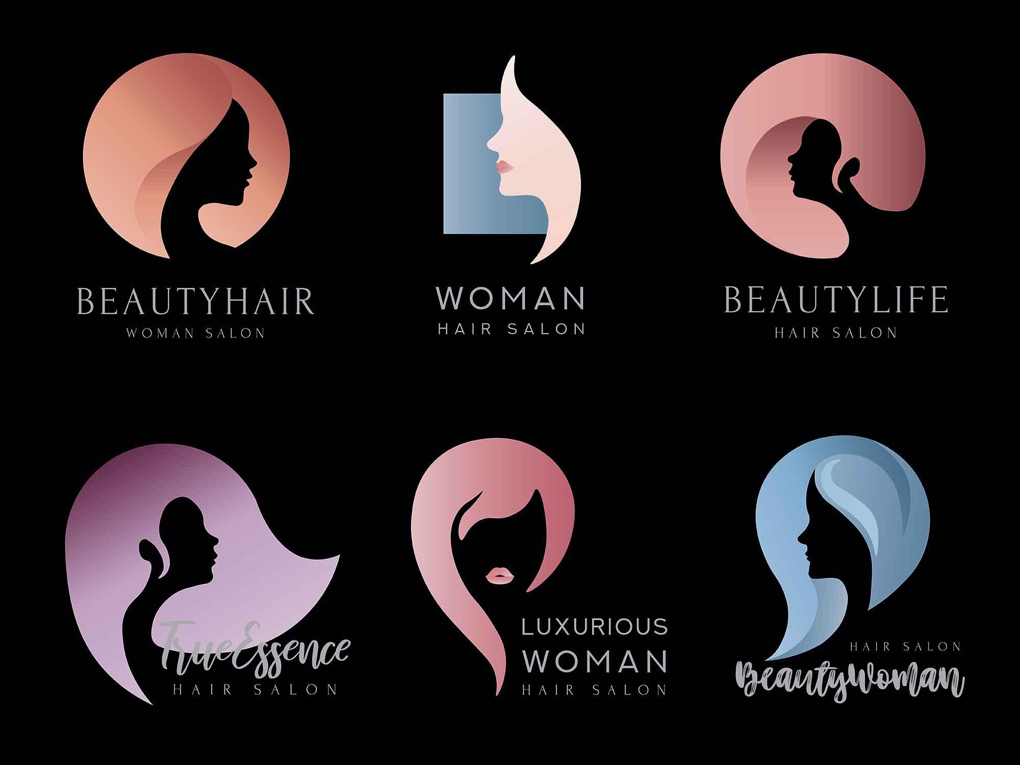Hair Salon Logo Templates 2