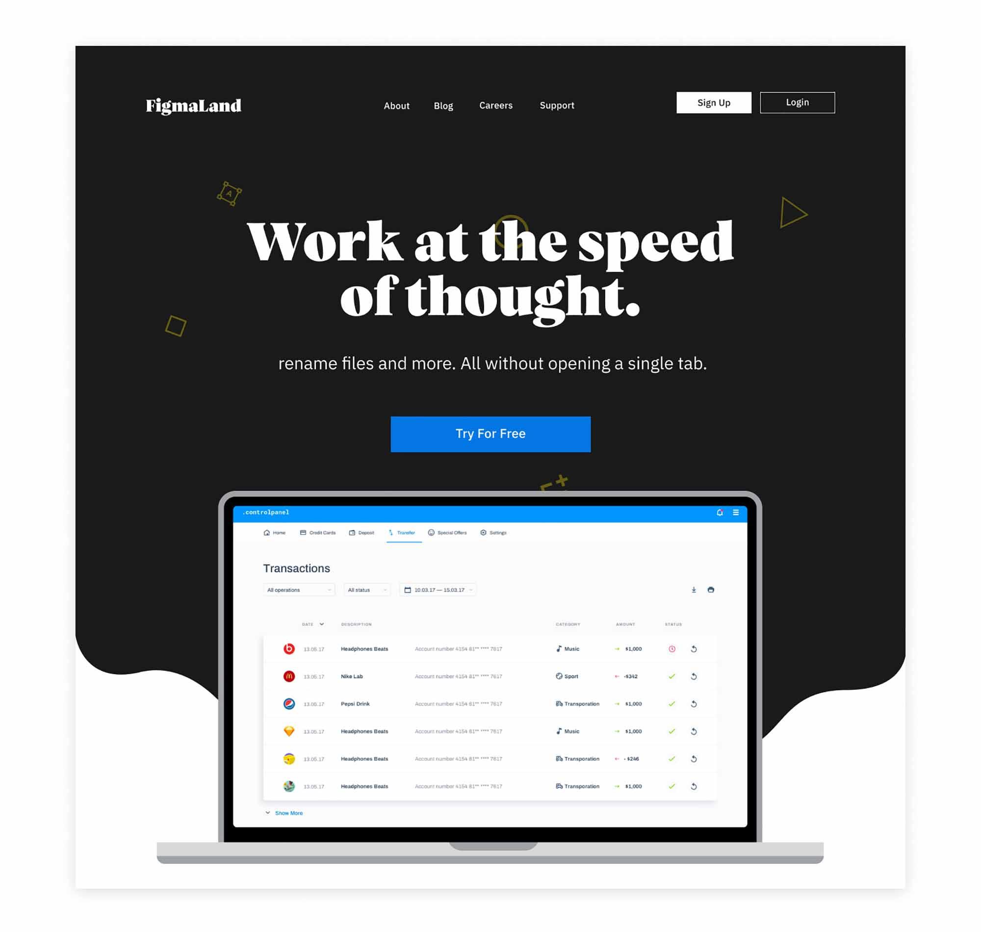 Header Design Template 4